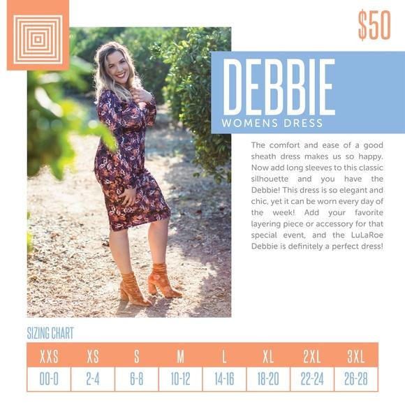 b8ea3f750 LuLaRoe Dresses | Large Debbie Dress | Poshmark